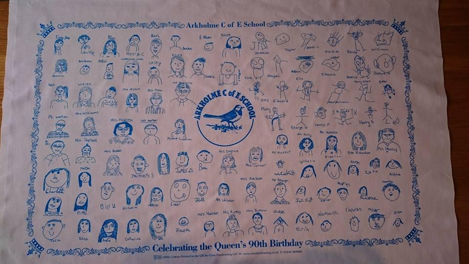 Queens Tea towel